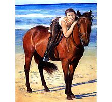 Arabian Horse On The Beach Portrait Photographic Print
