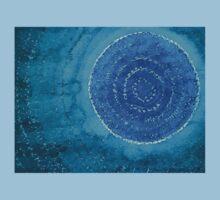 Blue World original painting Baby Tee