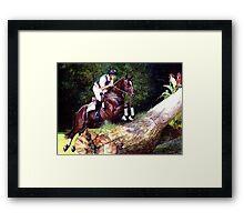 Trakehner Eventing Horse Portrait Framed Print