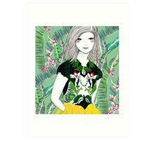 Ferns and Fuschia Art Print