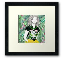 Ferns and Fuschia Framed Print