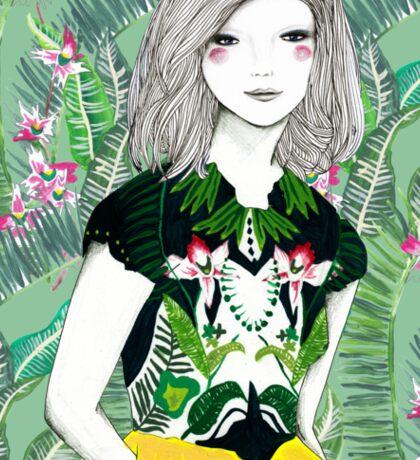 Ferns and Fuschia Sticker
