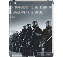 your voice is worth something iPad Case/Skin