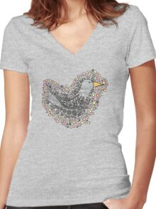 Into the Light of the Dark Black Night Women's Fitted V-Neck T-Shirt