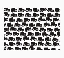 Black and White Cars Kids Clothes