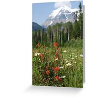 Wildflower Meadow at Mt. Robson Greeting Card