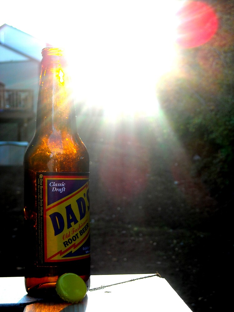 Dad's Classic Draft Root Beer At Sunset by EmSoFi