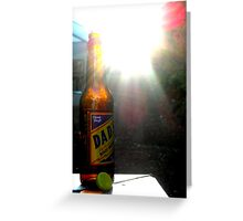 Dad's Classic Draft Root Beer At Sunset Greeting Card