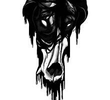 Zombie Dog Skull by LindseyDuce