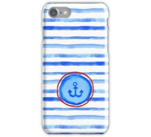 Stripes and anchor. iPhone Case/Skin