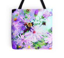 Bumble Bee Beautiful Flower Tote Bag