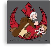Lets be Jedi (Old Ben & Luke) Canvas Print