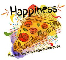 Pizza a day keeps depression away by Kaytwo