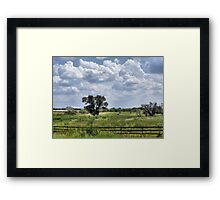 A Country Field Framed Print
