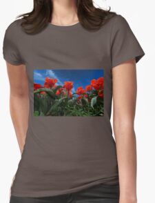Red Tulips Womens Fitted T-Shirt