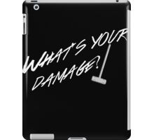 What's Your Damage-White iPad Case/Skin