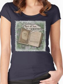 Popular Science: Charles Darwin 2 (distressed) Women's Fitted Scoop T-Shirt