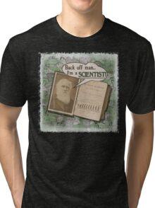 Popular Science: Charles Darwin 2 (distressed) Tri-blend T-Shirt