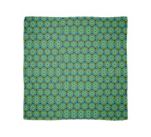 GEOMETRIC design, textiles blue, green Scarf