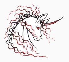 Ki-Rin (Japanese Unicorn) - Red One Piece - Short Sleeve