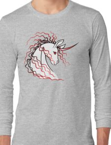 Ki-Rin (Japanese Unicorn) - Red Long Sleeve T-Shirt