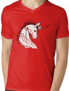 Ki-Rin (Japanese Unicorn) - Red Mens V-Neck T-Shirt