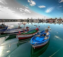Fuengirola Harbour-Boats at Rest by Kelvin Hughes