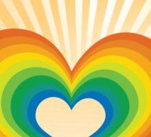 Rainbow Heart Keyhole Sticker
