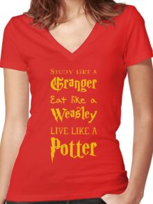 Live Like a Potter Women's Fitted V-Neck T-Shirt