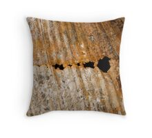 Rusted Holes Throw Pillow