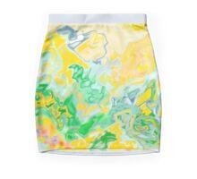 yellow and green, ABSTRACT MODERN ART, design decor, gifts Mini Skirt