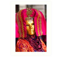 Venice - Carnival  Mask Series 08 Art Print
