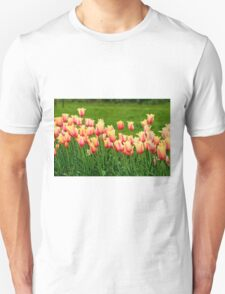 Orange yellow Tulips Unisex T-Shirt