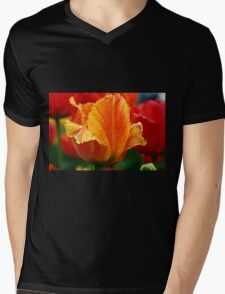 An Orange Tulip Mens V-Neck T-Shirt