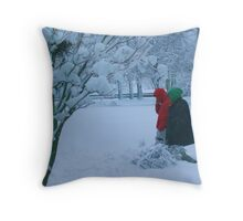 it's cold out there Throw Pillow