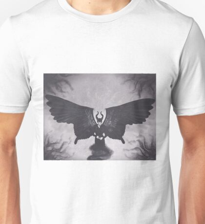 Original Realism Charcoal Drawing of Angelina Jolie as Maleficent Unisex T-Shirt