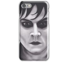 Realism Charcoal Drawing of Johnny Depp from Dark Shadows iPhone Case/Skin
