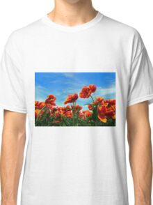 A field of Orange Tulips Classic T-Shirt