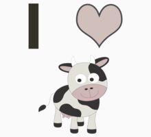 I heart Cows One Piece - Long Sleeve