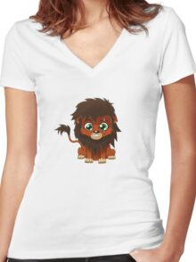 Chibi Scar | Lion King Women's Fitted V-Neck T-Shirt