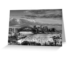 The City #2- A Study In Black & White - The HDR Experience Greeting Card