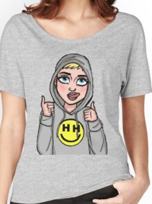 Happy Hippie Foundation Logo [Hoodie] Women's Relaxed Fit T-Shirt