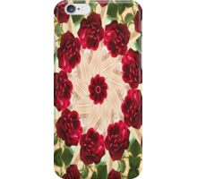 Old Red Rose Kaleidoscope 13 iPhone Case/Skin