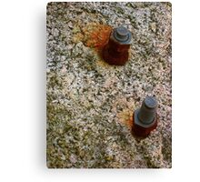 Bolted Rock Canvas Print