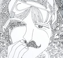man with mustache by cftp
