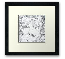 man with mustache Framed Print