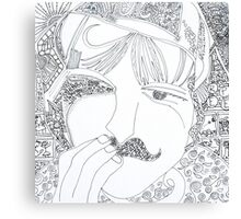 man with mustache Canvas Print