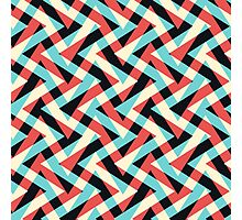 Crazy Retro ZigZag Photographic Print