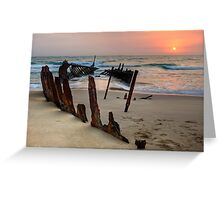 Red Dawn • Dicky Beach • Queensland Greeting Card