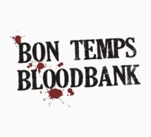 Bon Temps Bloodbank - black text by Adriana Owens